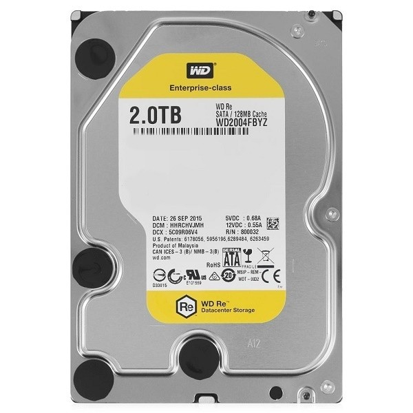 "WD Gold 2TB /3.5""/Sata3/128MB/7200RPM"